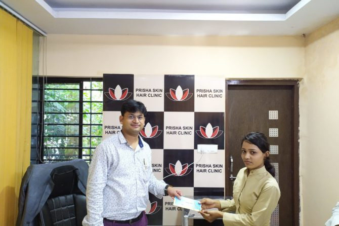 Employee facilitation & staff engagement program by dr Ankit Jain at Prisha skin and hair clinic